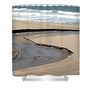 Flow - Scott Creek  Shower Curtain
