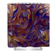 Flow In Chaos Shower Curtain