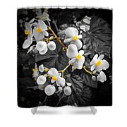 Flow Of Gold Shower Curtain