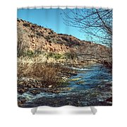Flow Of The Verde River Shower Curtain