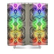 Flow - Stereogram Shower Curtain