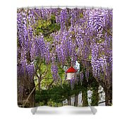 Flower - Wisteria - A House Of My Own Shower Curtain by Mike Savad