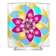 Flower 1317 - Abstract Art Print - Fantasy - Digital Art - Fine Art Print - Flower Print Shower Curtain