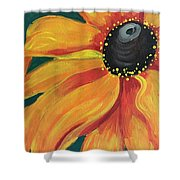 Flower A-blaze Shower Curtain