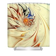 Flower Abstract Light Shower Curtain