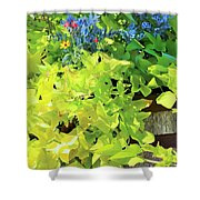 Flower Among Leaves Shower Curtain