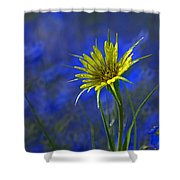 Flower And Flax Shower Curtain