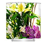 Flower Arrangement 1 Shower Curtain