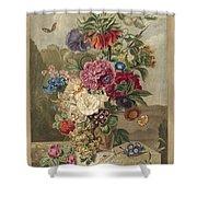 Flower Arrangement, Anthonie Van Den Bos, 1778 - 1838 B Shower Curtain