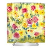 Flower Bed Shower Curtain