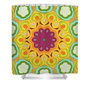 Flower Blooming Shower Curtain