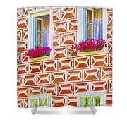 Flower Boxes In Slavonice Shower Curtain