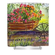 Flower Cart Shower Curtain