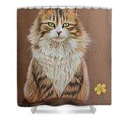Flower Cat Shower Curtain