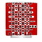 Flower Chess Shower Curtain