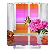 Flower Color Shower Curtain