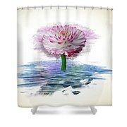 Flower Digital Art Shower Curtain