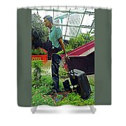 Flower Dome 30 Shower Curtain