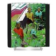 Flower Dome 34 Shower Curtain