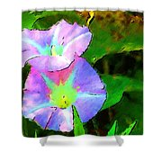 Flower Drawing Shower Curtain