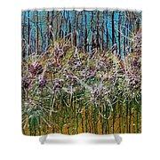 Flower Energy Shower Curtain