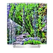 Flower Falls Shower Curtain