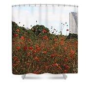 Flower Field In Hama-rikyu Gardens Shower Curtain