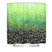 Flower Field Riot Shower Curtain