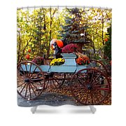 Flower Filled Wagon Shower Curtain