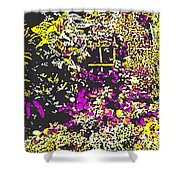 Flower Flood Shower Curtain by Eikoni Images