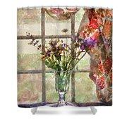 Flower - Flower - A Vase Of Flowers  Shower Curtain