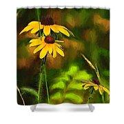 Flower Friends Shower Curtain