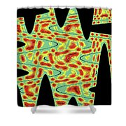Flower From Mt Ord Abstract Shower Curtain