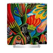 Flower Fusion Shower Curtain
