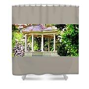 Flower Garden Chair Shower Curtain