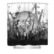 Flower Garden For Coloring Shower Curtain