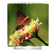 Flower Garden Friend Shower Curtain