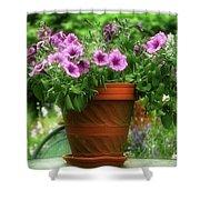 Flower Garden Pot Shower Curtain