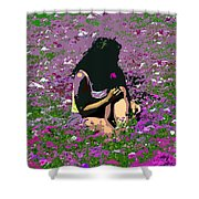 Flower Girl Shower Curtain