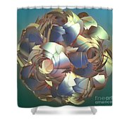 Flower Globe Shower Curtain