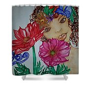 Flower Goddess  Shower Curtain