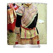 Flower Hmong Girl 04 Shower Curtain