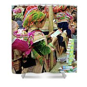 Flower Hmong Mother And Baby Shower Curtain