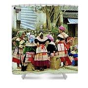 Flower Hmong Women 02 Shower Curtain