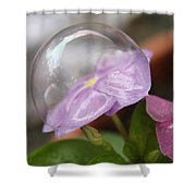 Flower In A Bubble Shower Curtain