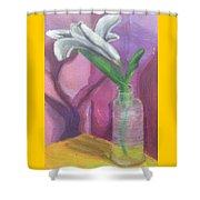 Flower In A Vase. Shower Curtain