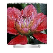 Flower In Stain Glass Shower Curtain