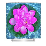 Flower In The Pool Shower Curtain