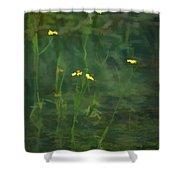 Flower In The Stream - Digital Art Shower Curtain