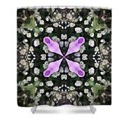 Flower Kaleidoscope_001 Shower Curtain